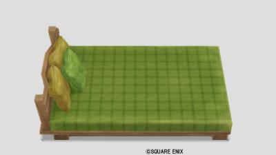 白木のベッド
