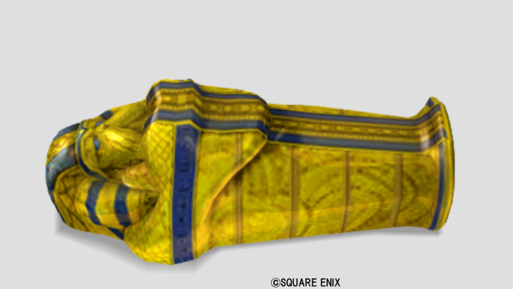 黄金の棺桶風ベッド