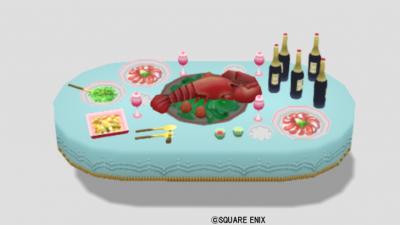 王宮のパーティ机・青