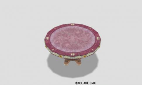 王宮のテーブル小・赤