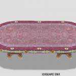 王宮のテーブル大・赤