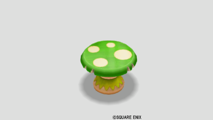 緑キノコのテーブル