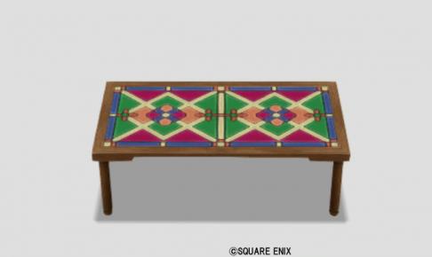 色飾りタイルテーブル