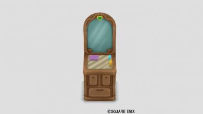 色飾りタイルの鏡台