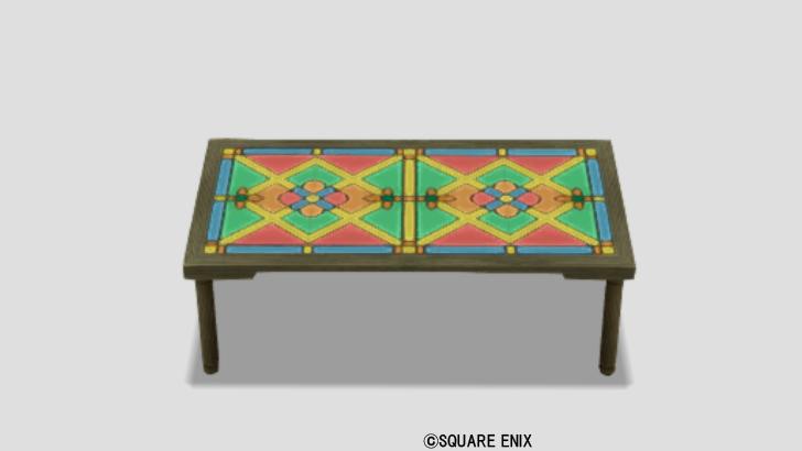 光飾りタイルテーブル