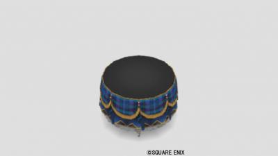 チェックテーブル・青