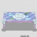 白バラのテーブル