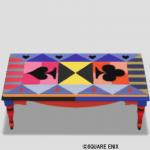 トランプ柄テーブル・赤