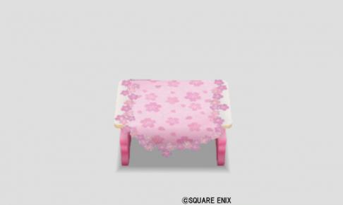 桜花のテーブル