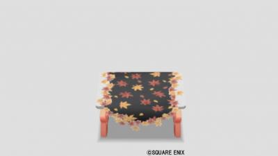 紅葉のテーブル