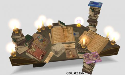 妖精図書館の机