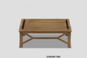 白木のテーブル大