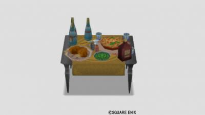 黒曜のパーティ机