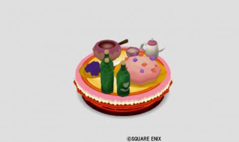 苺お菓子のパーティ机
