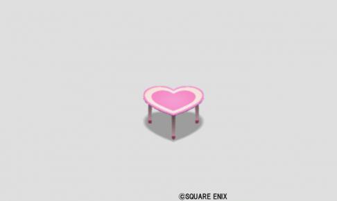ハートのテーブル小・桃