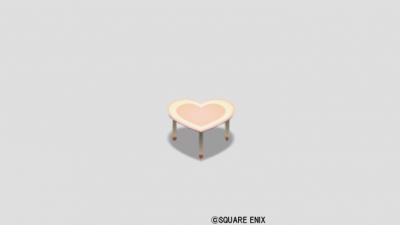 ハートのテーブル小・黄