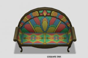 光飾りタイルのソファ