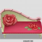 赤バラのソファ