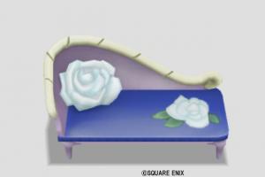 白バラのソファ