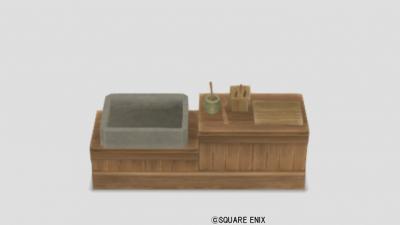 白木のキッチン