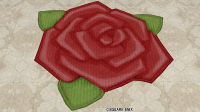 赤バラのラグ
