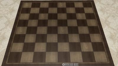チェスボードラグ・茶