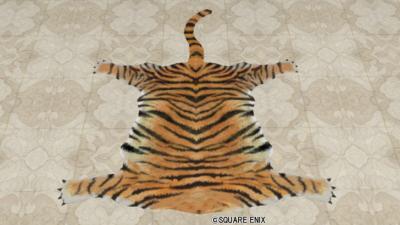 トラ柄のラグ