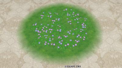おうち用花畑のラグ