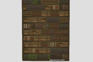 本棚付きの大きな壁