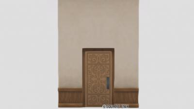 扉付き白木の大きい壁