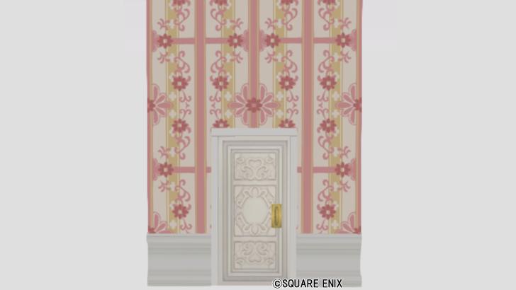 扉付き花柄の大きい壁