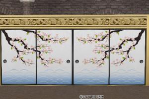 桜柄のふすま