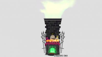 おばけ暖炉の壁