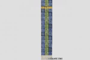 色タイルの壁