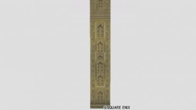 スライム柄彫刻の壁