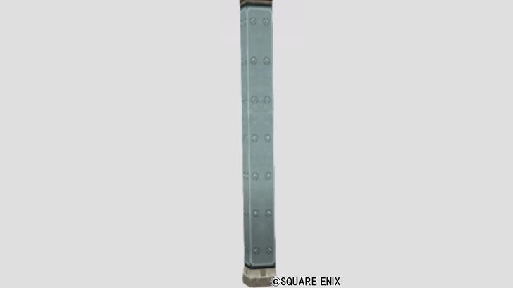 立派な鉄製の柱