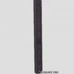 鉄枠木板張りの柱