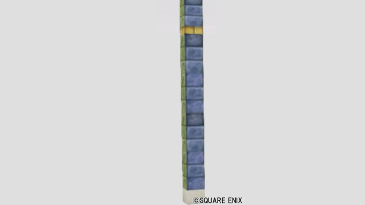 色タイルの柱