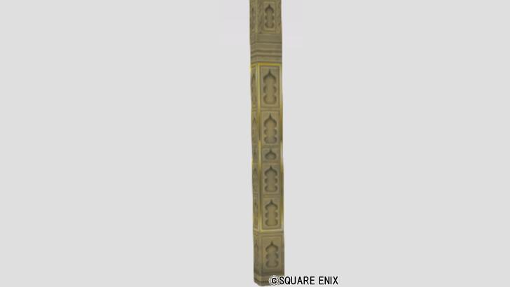 スライム柄彫刻の柱