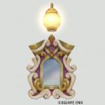 壁かけライト付き鏡