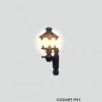 壁かけ鉄のランプ