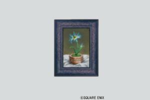 壁かけ一輪花の絵