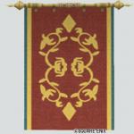 壁かけ紋章旗・茶