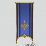 壁かけ紋章旗・青