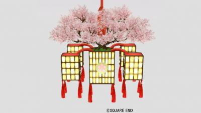 桜の吊るし行灯