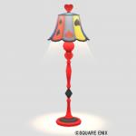 トランプ柄のランプ・赤