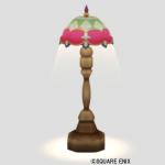 色飾りタイルのランプ