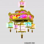 お祭りの天井ランプ