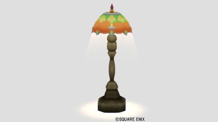 光飾りタイルのランプ
