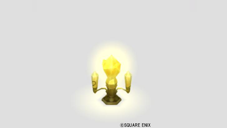 鉱石の燭台ランプ